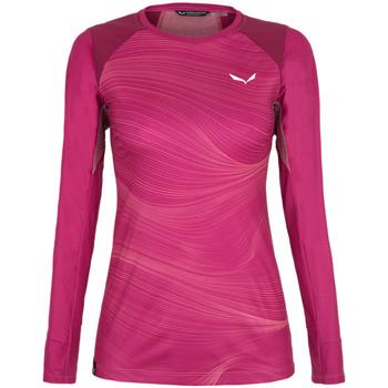 Oblečenie Ženy Tričká s dlhým rukávom Salewa Koszulka  Seceda Dry 28244-6360 red