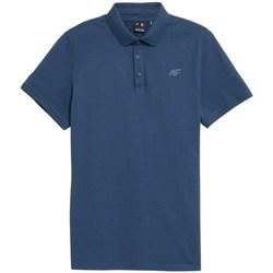 Oblečenie Muži Polokošele s krátkym rukávom 4F TSM355 Modrá