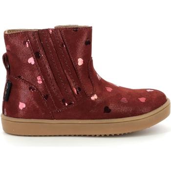 Topánky Dievčatá Polokozačky Aster Chaussures fille  Welsea bordeaux