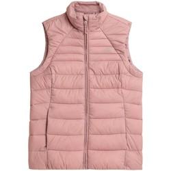 Oblečenie Ženy Vyteplené bundy 4F KUDP001 Ružová