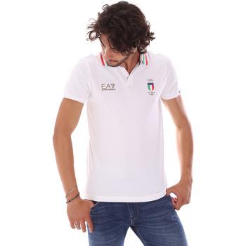 Oblečenie Muži Polokošele s krátkym rukávom Ea7 Emporio Armani 277017 6P907 Biely