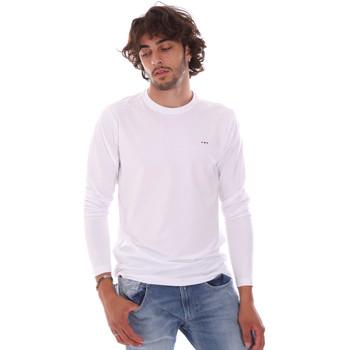 Oblečenie Muži Tričká s dlhým rukávom Key Up 2E96B 0001 Biely