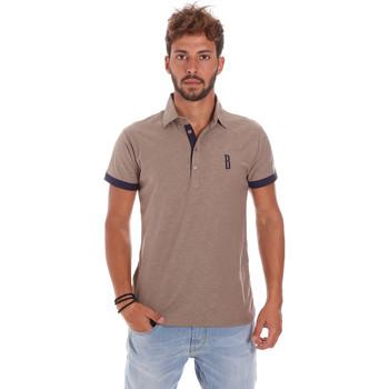 Oblečenie Muži Polokošele s krátkym rukávom Bradano 201014M Béžová