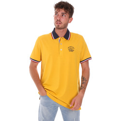 Oblečenie Muži Polokošele s krátkym rukávom Key Up 2G89R 0001 žltá