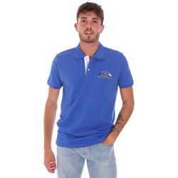 Oblečenie Muži Polokošele s krátkym rukávom Key Up 2G96Q 0001 Modrá