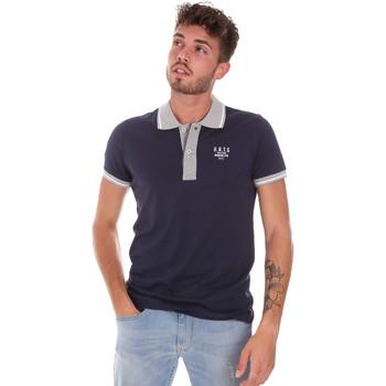 Oblečenie Muži Polokošele s krátkym rukávom Key Up 2G87R 0001 Modrá