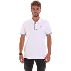Oblečenie Muži Polokošele s krátkym rukávom Key Up 2R53G 0001 Biely