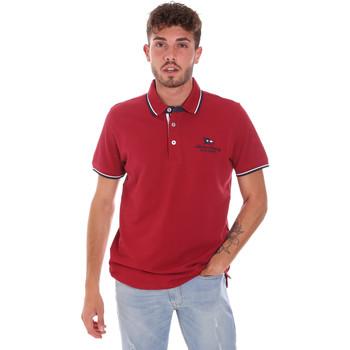 Oblečenie Muži Polokošele s krátkym rukávom Key Up 2Q60G 0001 Červená