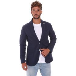 Oblečenie Muži Saká a blejzre Sei3sei PZG8 7149 Modrá