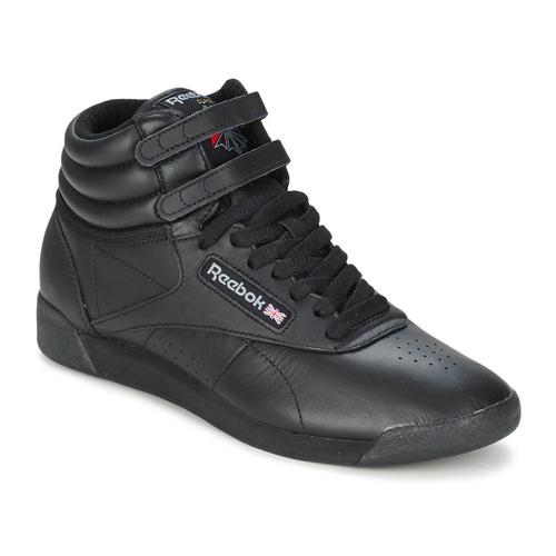 Topánky Ženy Členkové tenisky Reebok Classic FREESTYLE HI Čierna