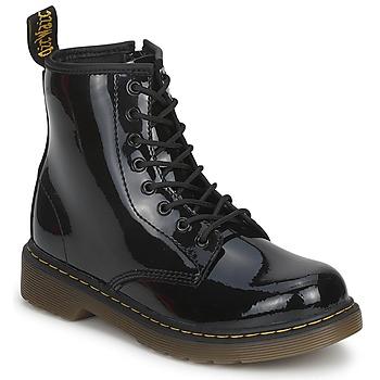 Topánky Dievčatá Polokozačky Dr Martens DELANEY Čierna