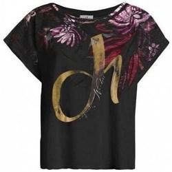 Oblečenie Ženy Tričká s krátkym rukávom Deha D4312210009 Čierna
