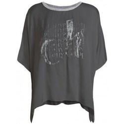 Oblečenie Ženy Tričká s krátkym rukávom Deha D43333 Grafit