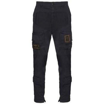 Oblečenie Muži Nohavice Cargo Aeronautica Militare PA1387CT149308 Čierna