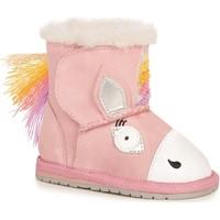 Topánky Deti športové šľapky EMU Magical Unicorn Walker Ružová