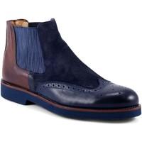 Topánky Muži Polokozačky Exton 445 Modrá