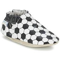 Topánky Chlapci Detské papuče Robeez GOAL čierna / Biela