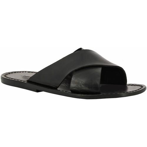 Topánky Ženy Šľapky Gianluca - L'artigiano Del Cuoio 560 U NERO CUOIO nero