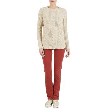 Oblečenie Ženy Nohavice päťvreckové Kulte PANTALON PLANCHER 101819 ROUGE Červená hrdzavá