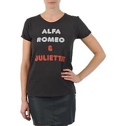 Oblečenie Ženy Tričká s krátkym rukávom Kulte LOUISA ROMEO 101950 NOIR čierna