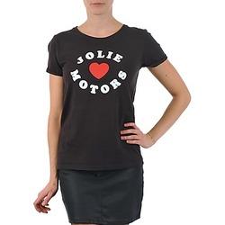 Oblečenie Ženy Tričká s krátkym rukávom Kulte LOUISA JOLIEMOTOR 101954 NOIR Čierna