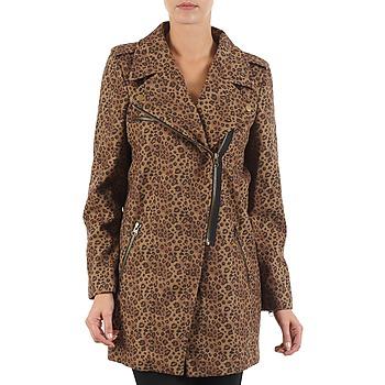 Oblečenie Ženy Kabáty Brigitte Bardot BB43110 Hnedá / Leopard