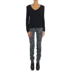 Oblečenie Ženy Džínsy Slim Gas TASCHE SUMATRA HIGH BLE BLACK šedá