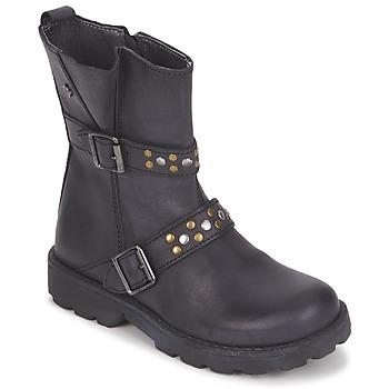 Topánky Dievčatá Polokozačky Naturino  Čierna