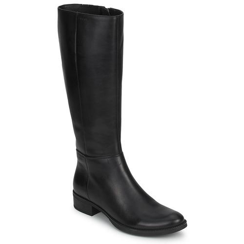 Topánky Ženy Čižmy do mesta Geox MENDI STIVALI BASIC Čierna