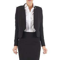 Oblečenie Ženy Saká a blejzre Lola DOUBLE VAEL Čierna