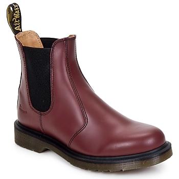 Topánky Polokozačky Dr Martens 2976 CHELSEA BOOT Červená / Červená višňová