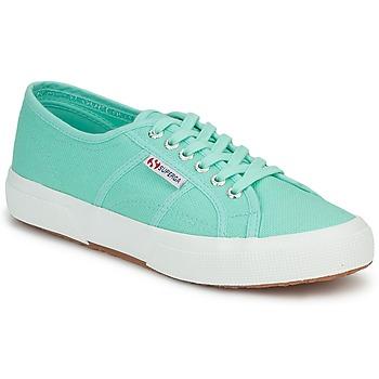Topánky Ženy Nízke tenisky Superga 2750 COTU CLASSIC Pastelová / Zelená