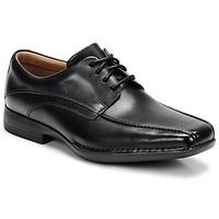 Topánky Muži Derbie Clarks FRANCIS Čierna