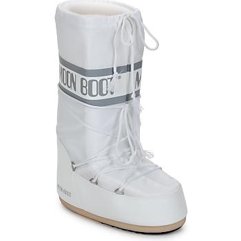 Topánky Ženy Obuv do snehu Moon Boot CLASSIC Biela / Strieborná