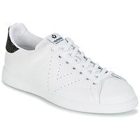 Topánky Ženy Nízke tenisky Victoria DEPORTIVO BASKET PIEL Biela / Čierna