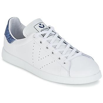 Topánky Nízke tenisky Victoria DEPORTIVO BASKET PIEL Biela / Modrá