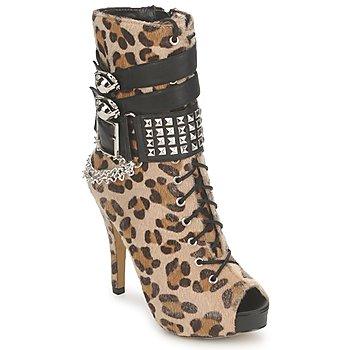 Topánky Ženy Čižmičky Abbey Dawn PLATFORM BOOTEE Leopard / Print
