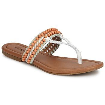 Topánky Ženy Sandále Lucky Brand DOLLIS Svetlá telová / Biela / Zelená mentolová