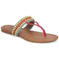 Topánky Ženy Sandále Lucky Brand DOLLIS Ťavia hnedá / Teaberry / Modrá / Modrá