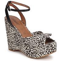 Topánky Ženy Sandále Lucky Brand VIERA Čierna / Biela