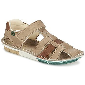 Topánky Chlapci Sandále El Naturalista KIRI Béžová