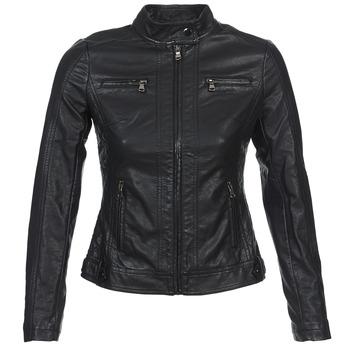 Oblečenie Ženy Kožené bundy a syntetické bundy Moony Mood IDESCUNE Čierna