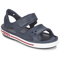 Topánky Deti Nazuvky Crocs CROCBAND II SANDAL PS Námornícka modrá / Biela