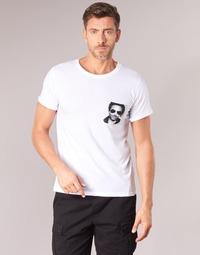 Oblečenie Muži Tričká s krátkym rukávom Eleven Paris LENNYPOCK MEN Biela