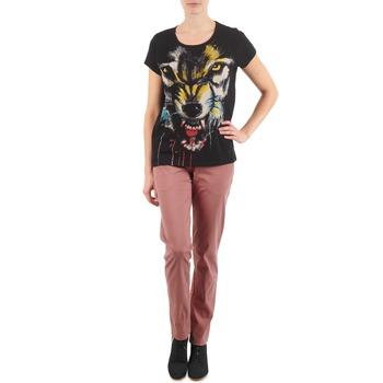 Oblečenie Ženy Nohavice Chinos a Carrot Eleven Paris PANDORE WOMEN Ružová