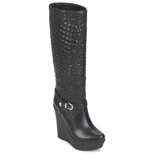 Topánky Ženy Čižmy do mesta Versace DSL909R Čierna