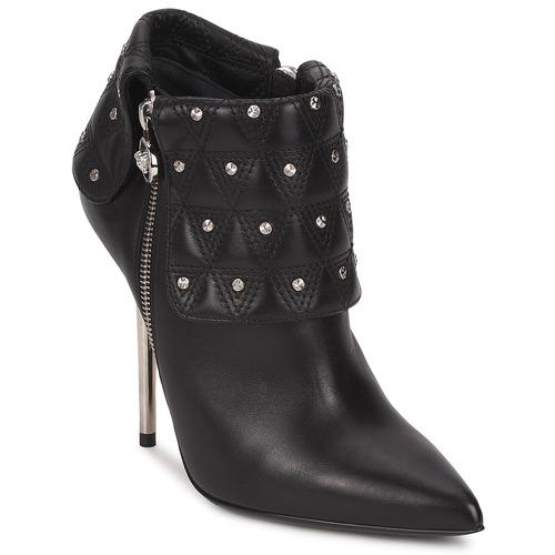Topánky Ženy Čižmičky Versace DSL894P Čierna