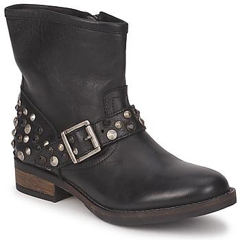 Topánky Ženy Polokozačky Pieces ISADORA LEATHER BOOT Čierna