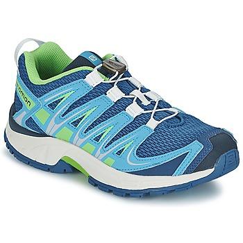 Topánky Deti Univerzálna športová obuv Salomon XA PRO 3D JUNIOR Modrá / Zelená