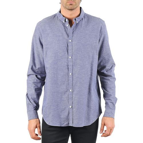 Oblečenie Muži Košele s dlhým rukávom Cheap Monday DAMON BD SHIRT Modrá